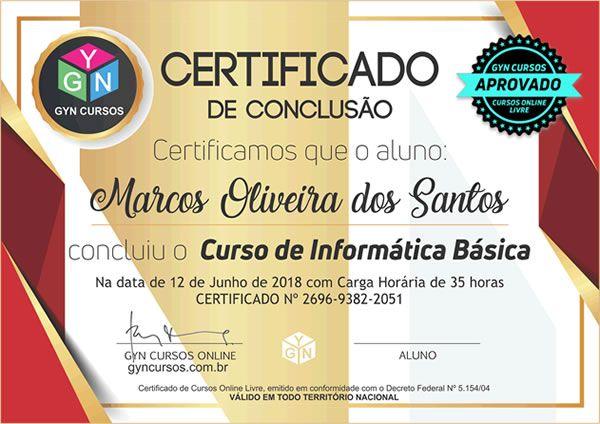 Certificado modelo 03